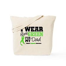 IWearLimeGreen Dad Tote Bag