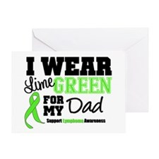 IWearLimeGreen Dad Greeting Card