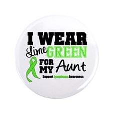 "IWearLimeGreen Aunt 3.5"" Button"