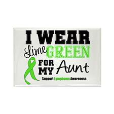 IWearLimeGreen Aunt Rectangle Magnet (100 pack)