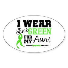 IWearLimeGreen Aunt Oval Sticker (50 pk)