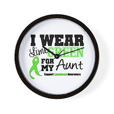 IWearLimeGreen Aunt Wall Clock
