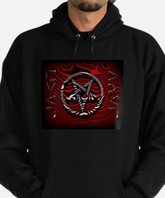 HAIL EVIL Pentagram Red ~ Dark Hoodie Sweatshirt