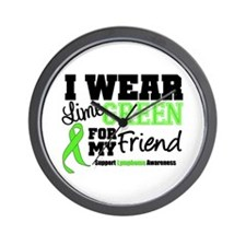 IWearLimeGreen Friend Wall Clock