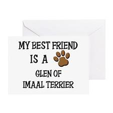 My best friend is a GLEN OF IMAAL TERRIER Greeting