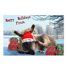 Lil Santa Donkey Postcards (Package of 8)
