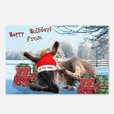 Lil Santa Donkey Postcards (Package of 8)
