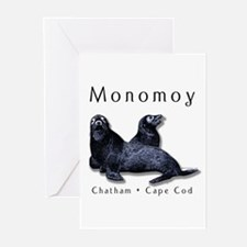 """""""Monomoy"""" w/seals Greeting Cards (Pck of 6)"""