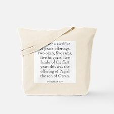 NUMBERS  7:77 Tote Bag