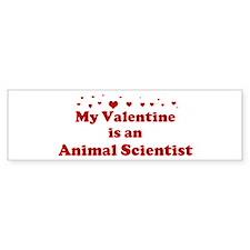 Valentine: Animal Scientist Bumper Bumper Sticker