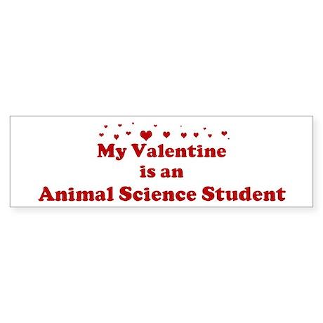 Valentine: Animal Science Stu Bumper Sticker