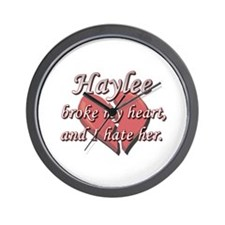 Haylee broke my heart and I hate her Wall Clock