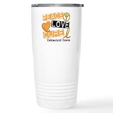 PEACE LOVE CURE Endometrial Cancer Travel Mug