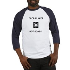 Drop Flakes Not Bombs Baseball Jersey