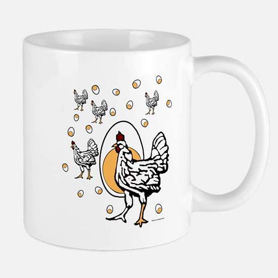 ChickenFlat Mugs