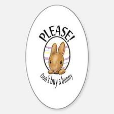 Bunny Oval Decal