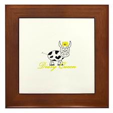 Cute Milk cow Framed Tile