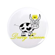 """Cute Dairy cow 3.5"""" Button (100 pack)"""