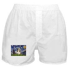 Starry Night Petit Basset (#4) Boxer Shorts