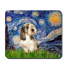 Starry Night Petit Basset (#4) Mousepad