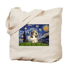Starry Night Petit Basset (#4) Tote Bag