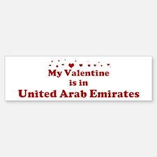 Valentine in United Arab Emir Bumper Bumper Bumper Sticker