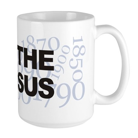 I Love The Census Large Mug