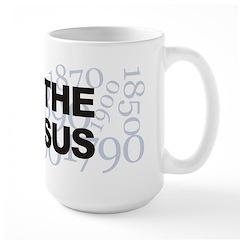I Love The Census Large Mug