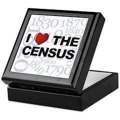 I Love The Census Keepsake Box