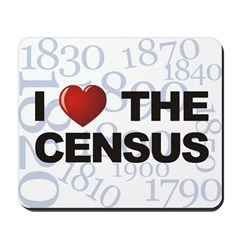 I Love The Census Mousepad