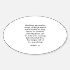 NUMBERS 7:73 Oval Decal
