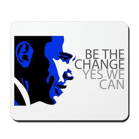 Obama - Change - We Can - Blue Mousepad