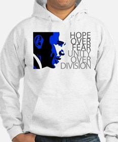 Obama - Hope Over Division - Blue Hoodie