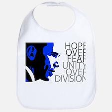Obama - Hope Over Division - Blue Bib