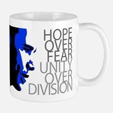 Obama - Hope Over Division - Blue Small Small Mug