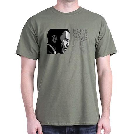 Obama - Hope Over Division - Grey Dark T-Shirt
