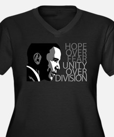 Obama - Hope Over Division - Grey Women's Plus Siz
