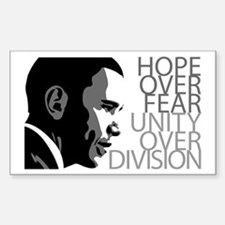 Obama - Hope Over Division - Grey Stickers