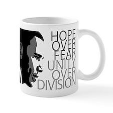 Obama - Hope Over Division - Grey Small Small Mug