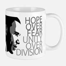 Obama - Hope Over Division - Grey Small Small Mug