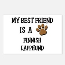 My best friend is a FINNISH LAPPHUND Postcards (Pa