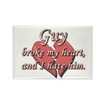 Guy broke my heart and I hate him Rectangle Magnet