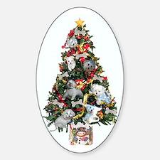 Merry Maltese Christmas Shop Oval Decal