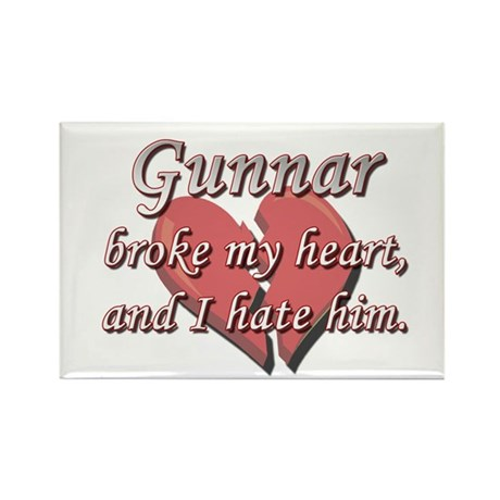 Gunnar broke my heart and I hate him Rectangle Mag