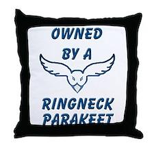 Ringneck Parakeet Throw Pillow