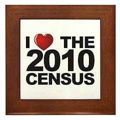 I Love The 2010 Census Framed Tile