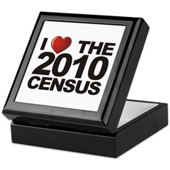 I Love The 2010 Census Keepsake Box
