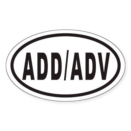 ADD/ADV Euro Oval Sticker