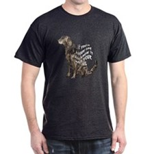 happy flatcoat retriever T-Shirt