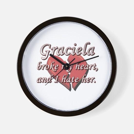 Graciela broke my heart and I hate her Wall Clock
